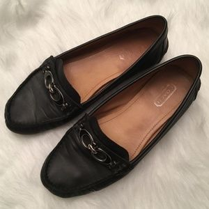 Coach leather loafer